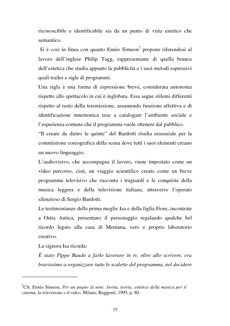 Anteprima della tesi: Sergio Bardotti: una poliedrica esperienza artistica a servizio dello spettacolo, Pagina 11