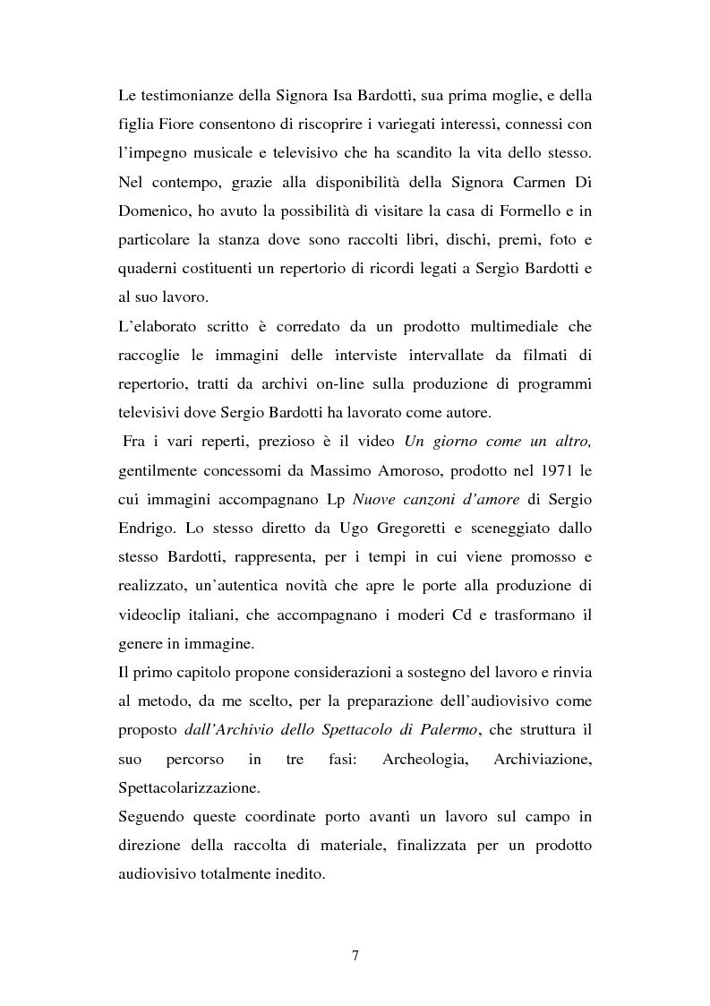 Anteprima della tesi: Sergio Bardotti: una poliedrica esperienza artistica a servizio dello spettacolo, Pagina 3