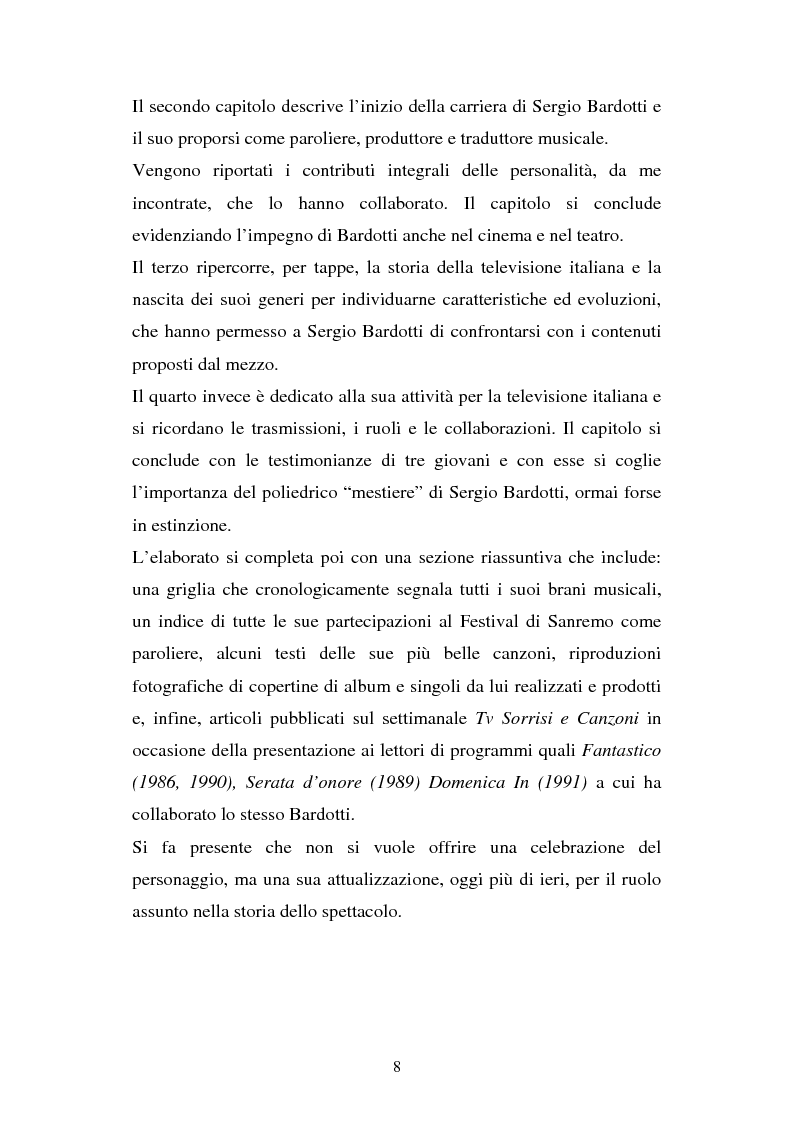 Anteprima della tesi: Sergio Bardotti: una poliedrica esperienza artistica a servizio dello spettacolo, Pagina 4