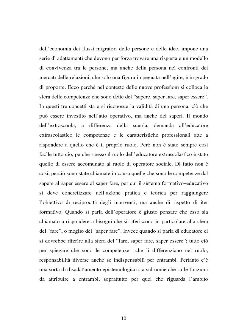 Anteprima della tesi: Università e formazione dell'educatore professionale, Pagina 10