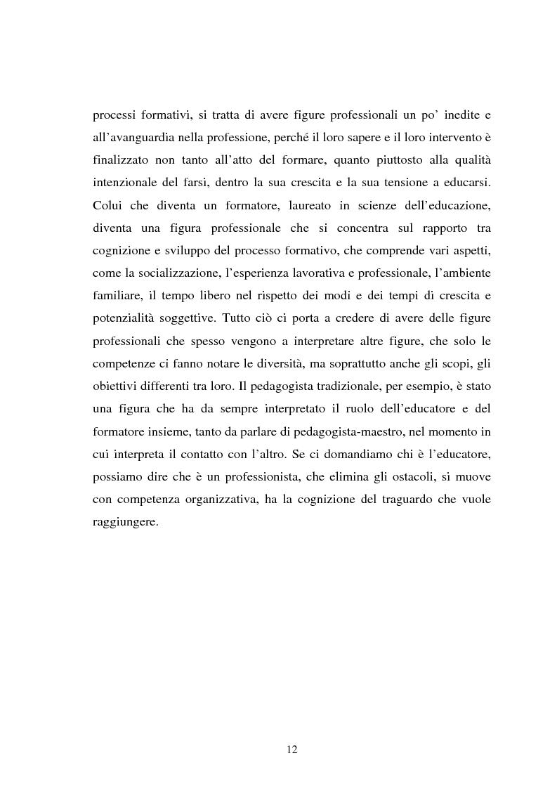 Anteprima della tesi: Università e formazione dell'educatore professionale, Pagina 12