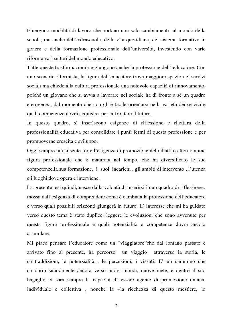 Anteprima della tesi: Università e formazione dell'educatore professionale, Pagina 2