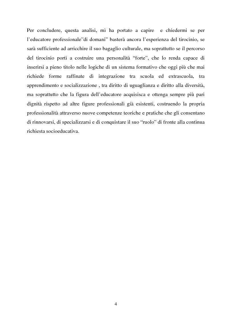 Anteprima della tesi: Università e formazione dell'educatore professionale, Pagina 4