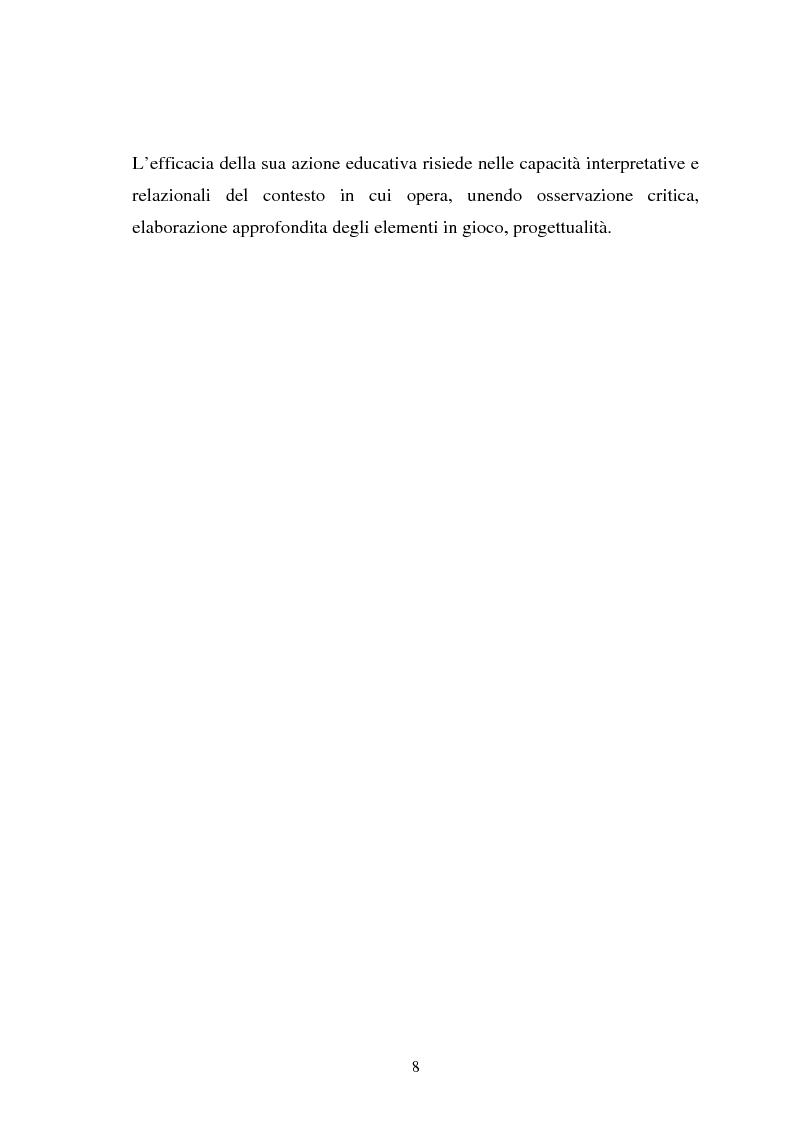 Anteprima della tesi: Università e formazione dell'educatore professionale, Pagina 8