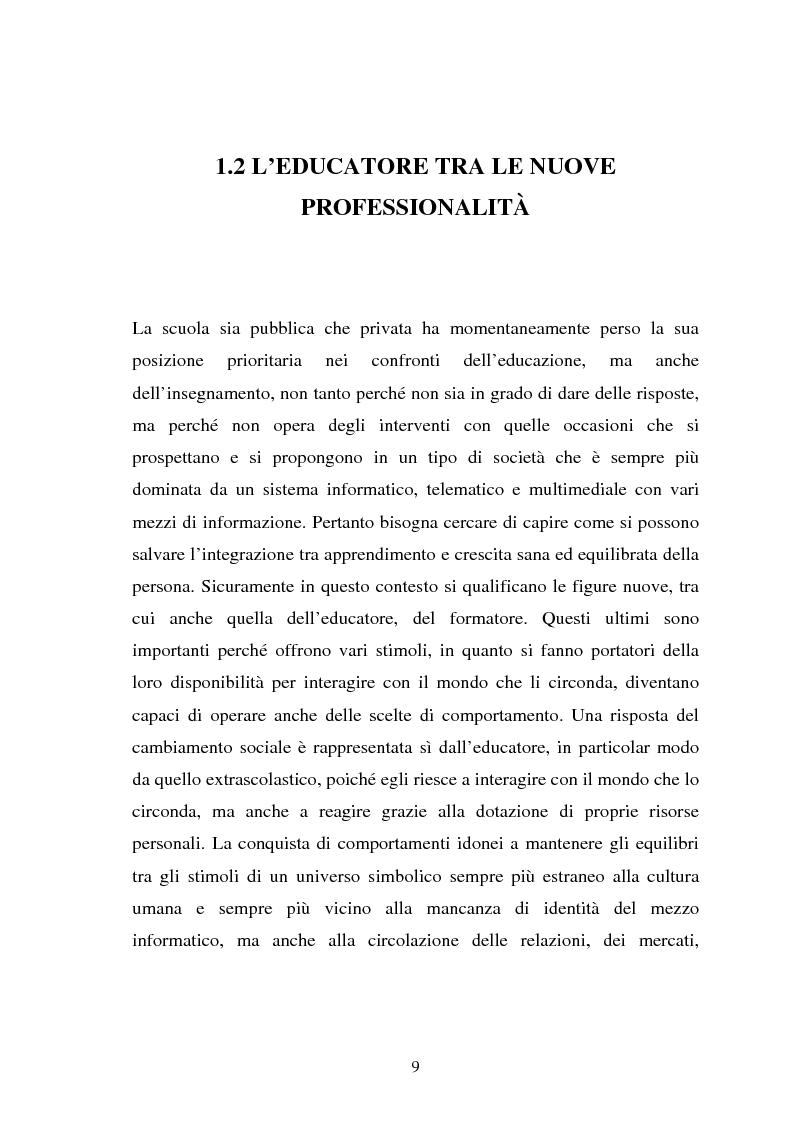Anteprima della tesi: Università e formazione dell'educatore professionale, Pagina 9