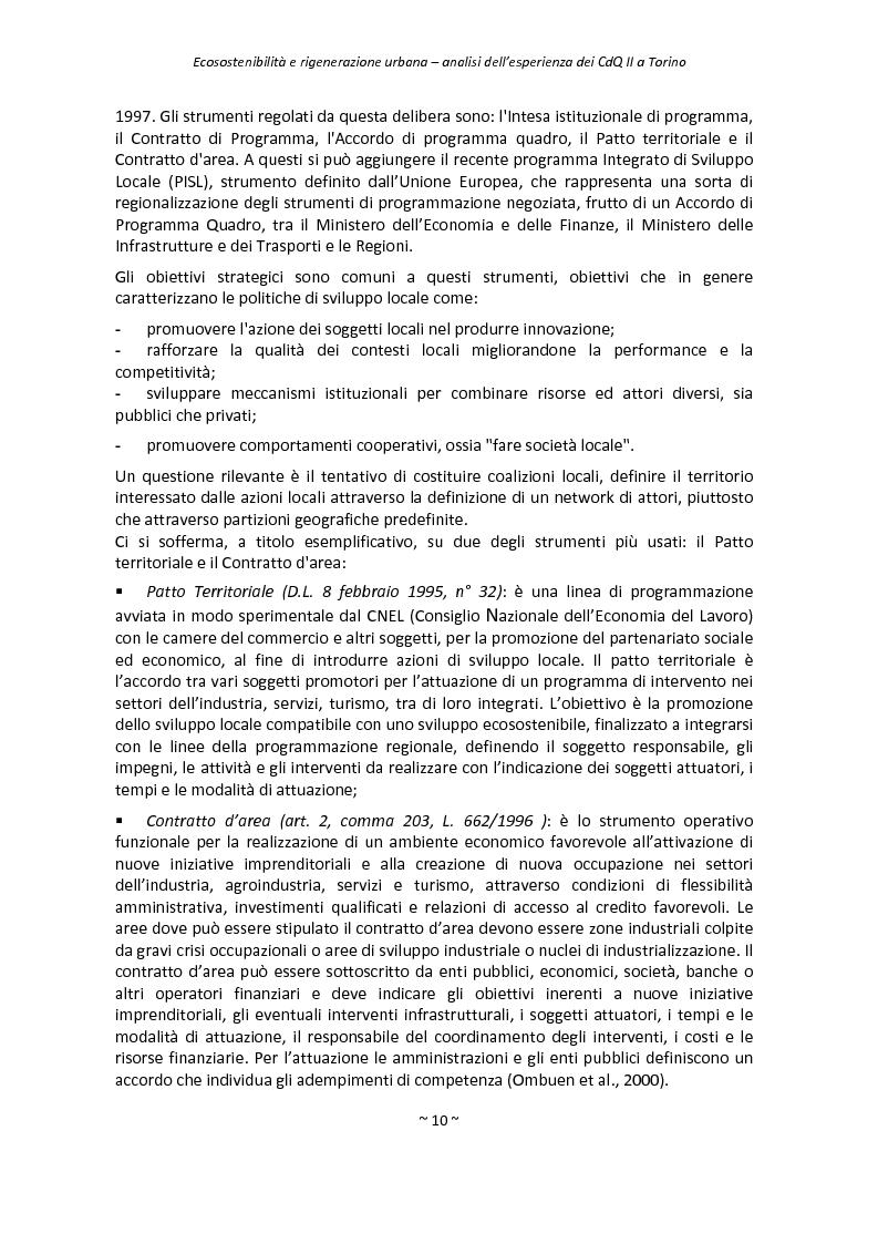 Anteprima della tesi: Ecosostenibilità e rigenerazione urbana, analisi dell'esperienza dei contratti di quartiere II a Torino, Pagina 7