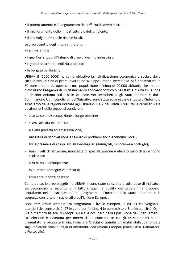 Anteprima della tesi: Ecosostenibilità e rigenerazione urbana, analisi dell'esperienza dei contratti di quartiere II a Torino, Pagina 9