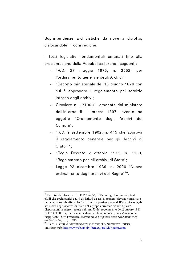 Anteprima della tesi: Strategie di gestione e valorizzazione delle risorse archivistiche locali, Pagina 9