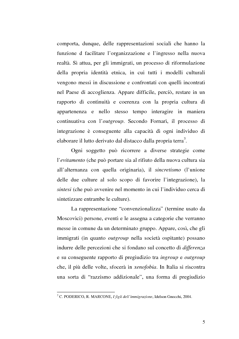 Anteprima della tesi: Immigrazione e integrazione scolastica, Pagina 3