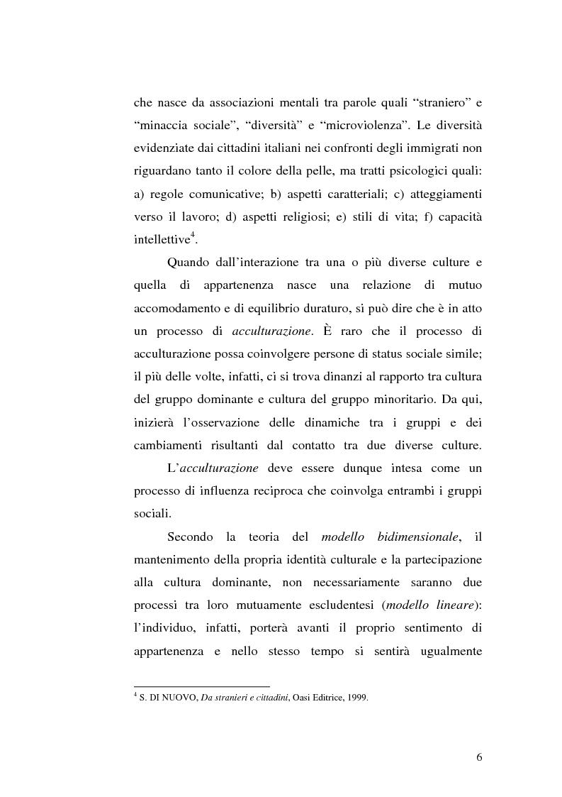 Anteprima della tesi: Immigrazione e integrazione scolastica, Pagina 4