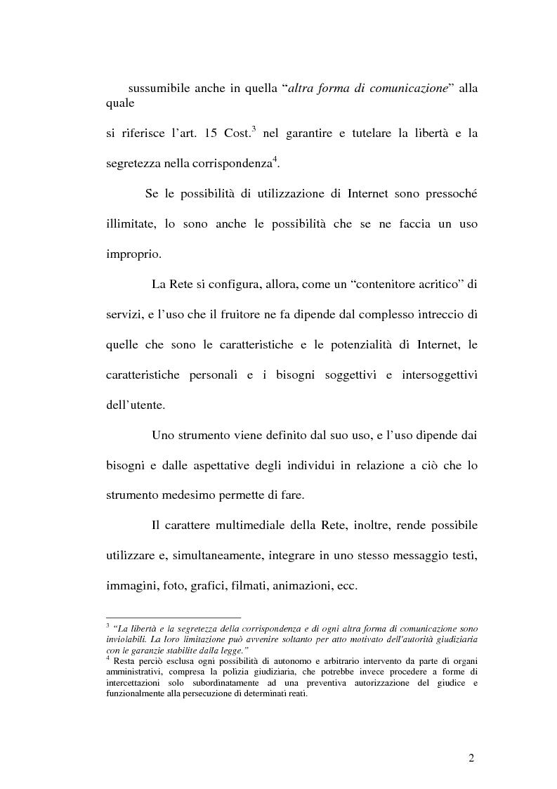 Anteprima della tesi: Il web come mezzo di consumazione dei reati in materia sessuale, Pagina 2