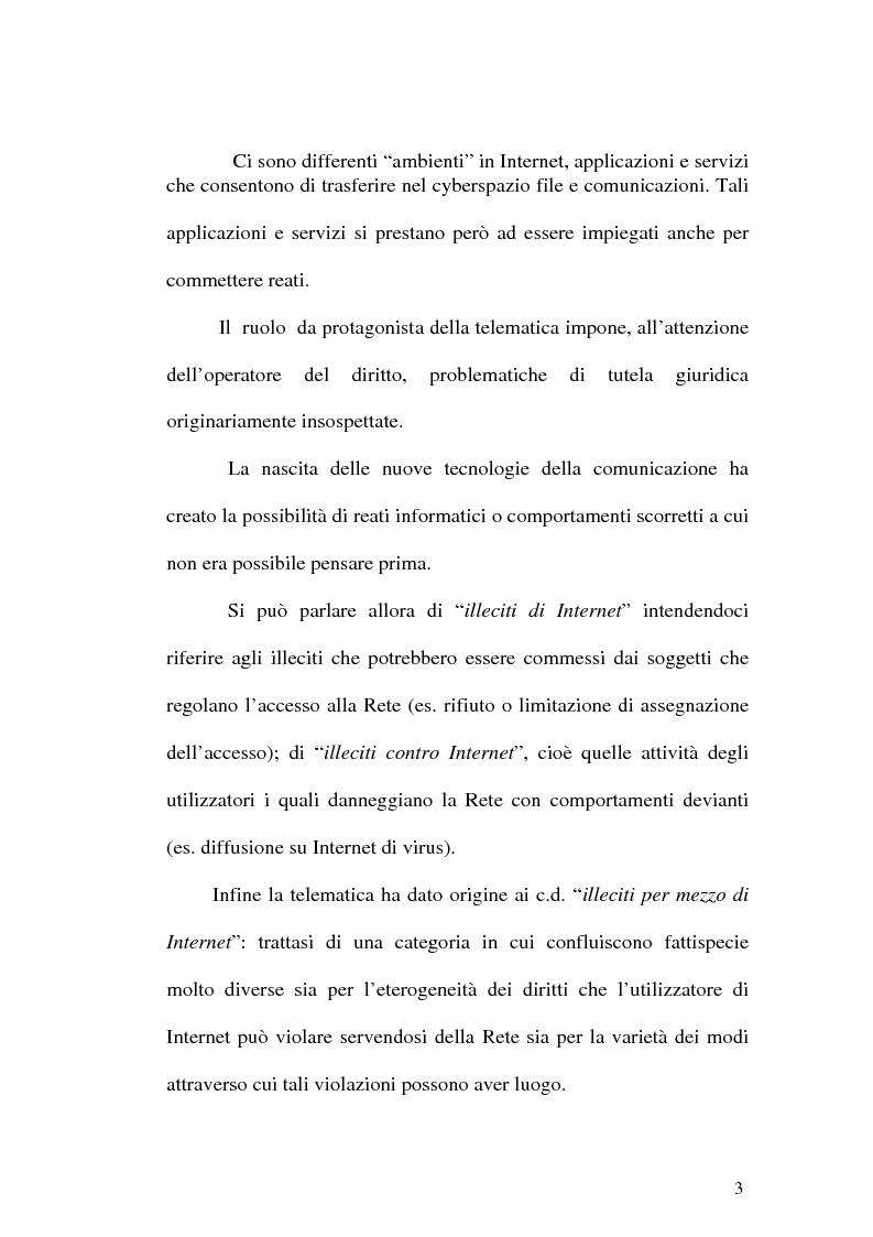 Anteprima della tesi: Il web come mezzo di consumazione dei reati in materia sessuale, Pagina 3