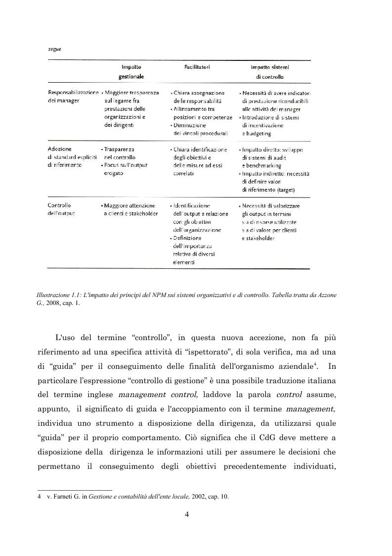Anteprima della tesi: L'introduzione del controllo di gestione nella Provincia di Arezzo, Pagina 4