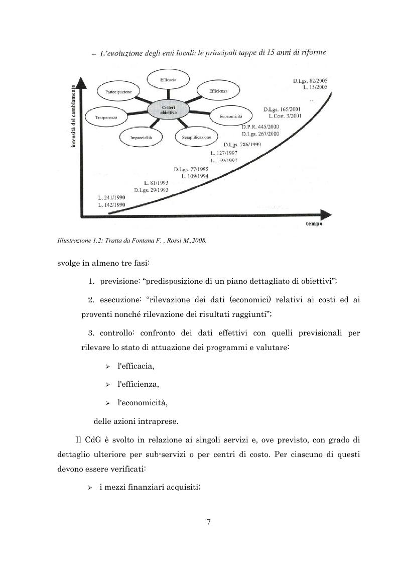 Anteprima della tesi: L'introduzione del controllo di gestione nella Provincia di Arezzo, Pagina 7