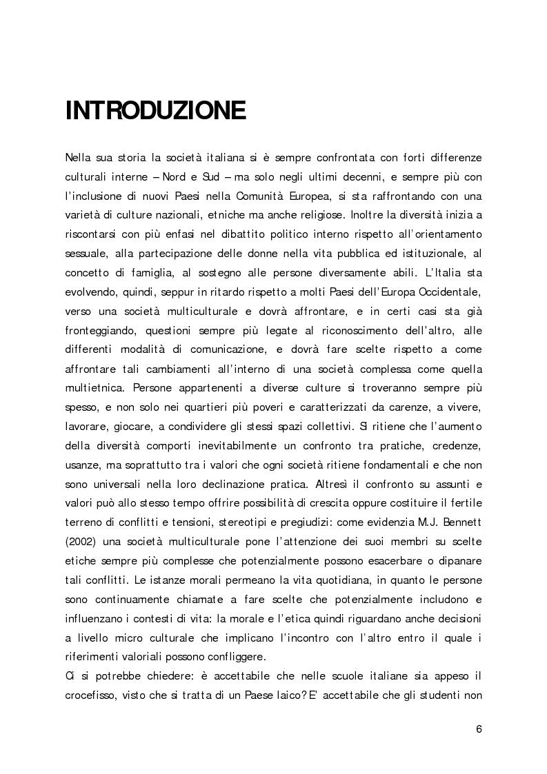 Anteprima della tesi: Lo sviluppo della sensibilità interculturale e lo sviluppo morale in adolescenza: un'analisi empirica, Pagina 2