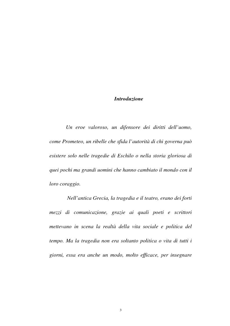 Anteprima della tesi: Elementi simbolico-politici nel ''Prometeo Incatenato'', Pagina 1