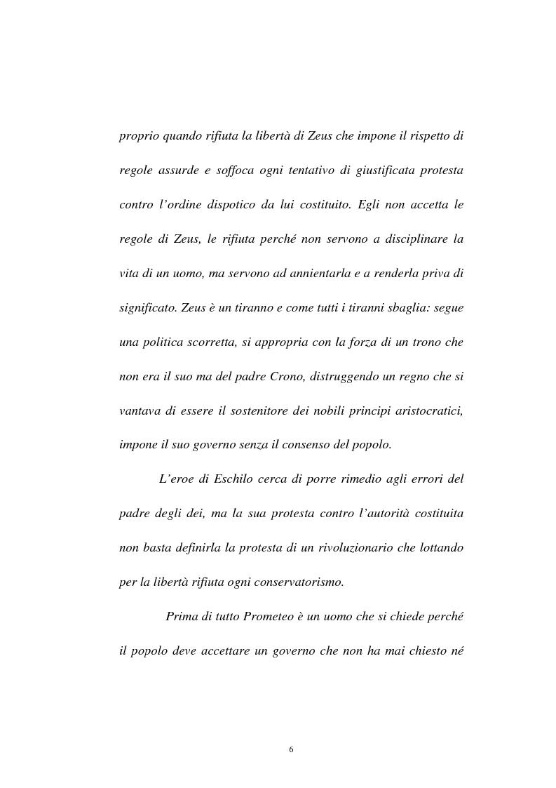 Anteprima della tesi: Elementi simbolico-politici nel ''Prometeo Incatenato'', Pagina 4