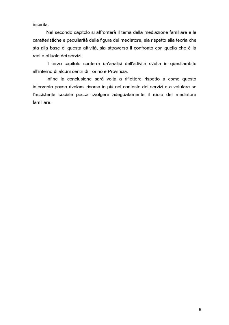 Anteprima della tesi: Due per uno... due! Due genitori per un figlio. Gli aspetti psicologici, sociali e legislativi della separazione e del divorzio e il contributo della mediazione familiare., Pagina 2