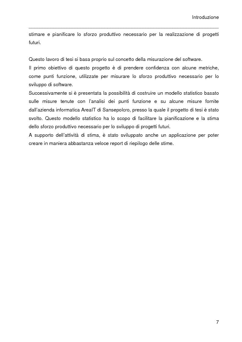 Anteprima della tesi: Predizione dei costi nei progetti software mediante l'analisi dei punti funzione e dei casi d'uso, Pagina 3