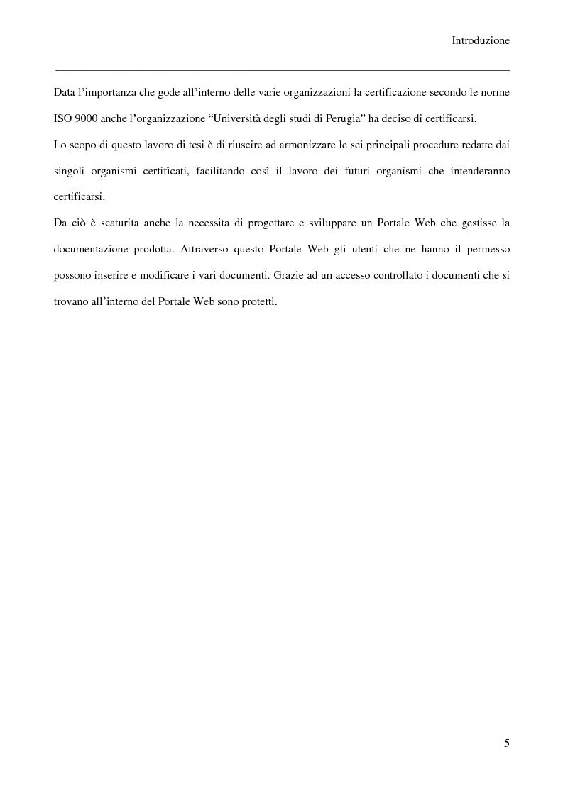 Anteprima della tesi: Sviluppo di un portale web per la gestione documentale nei sistemi ISO 9001, Pagina 2