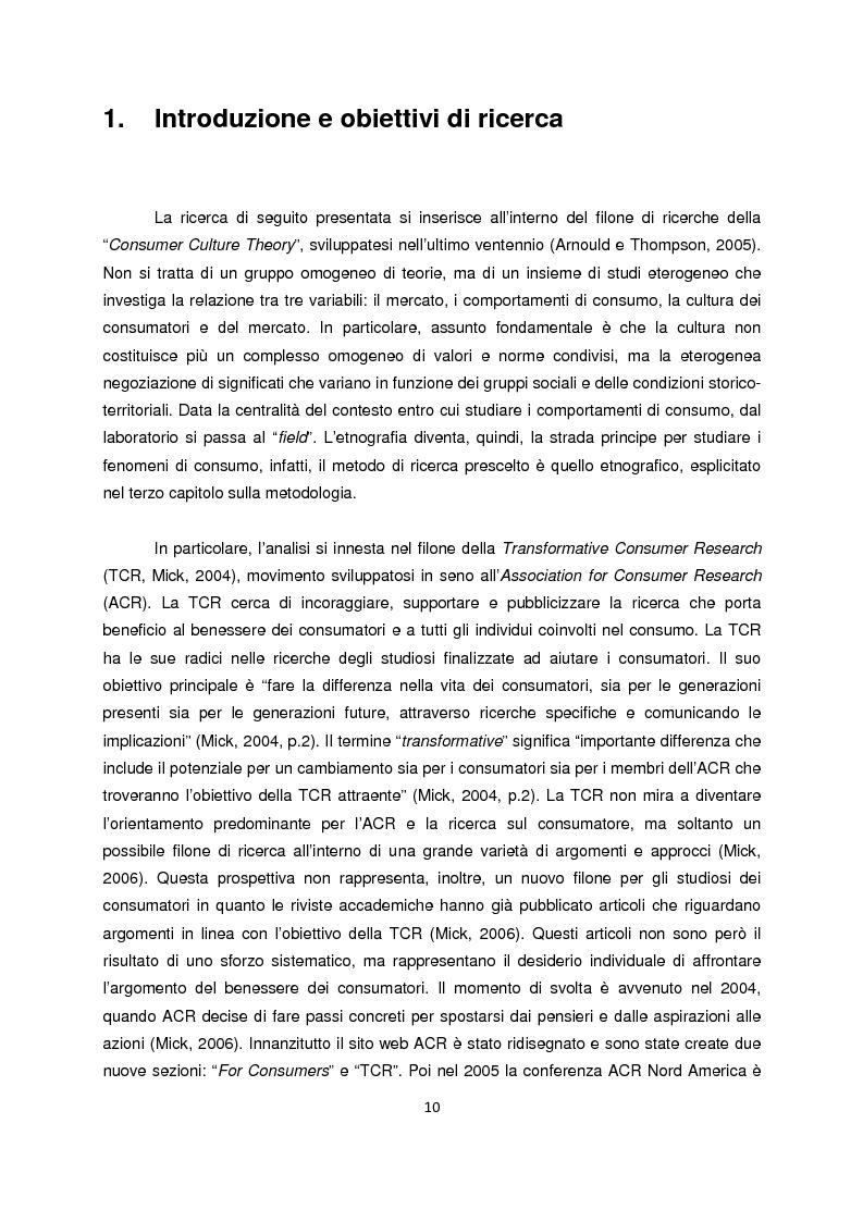 Anteprima della tesi: Persone senza dimora: cultura, consumi e relazioni con i mercati, Pagina 2