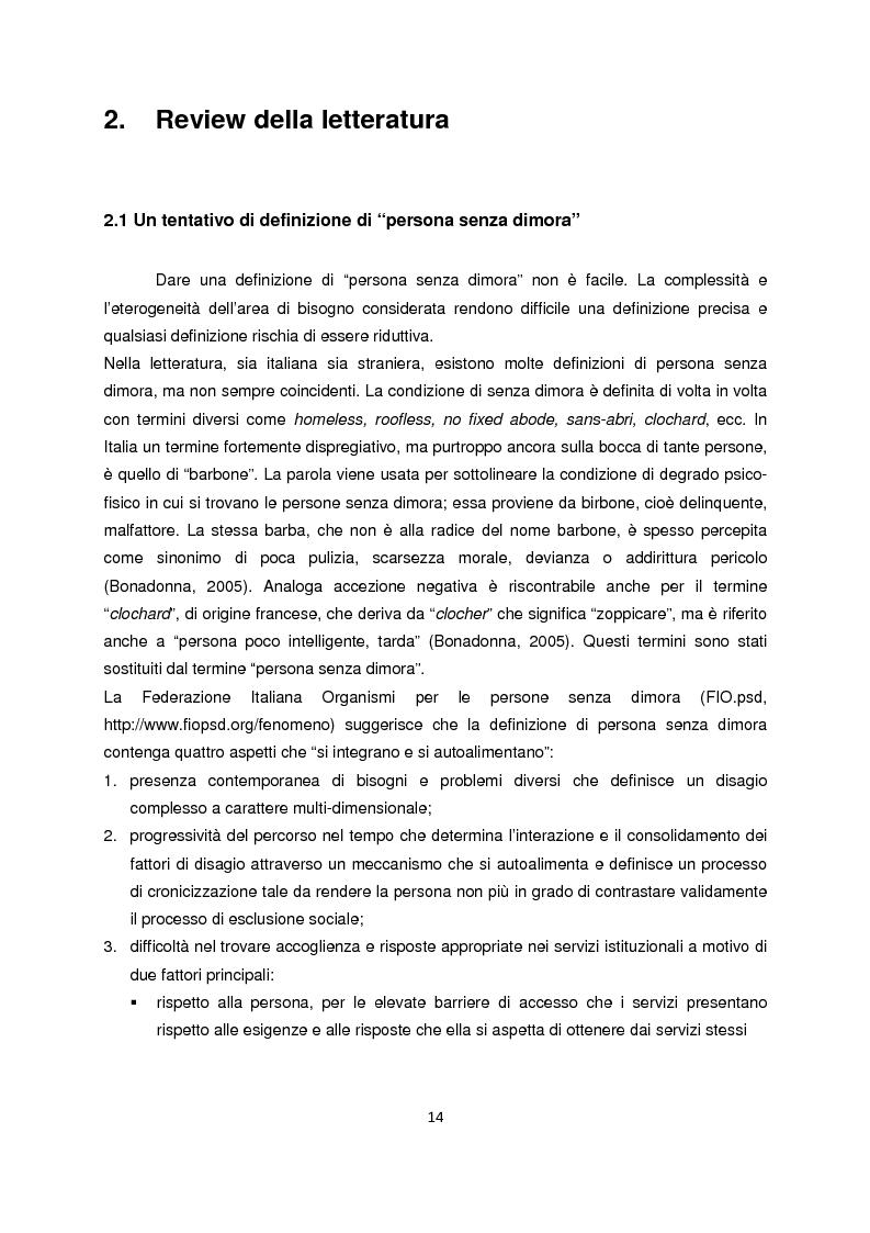 Anteprima della tesi: Persone senza dimora: cultura, consumi e relazioni con i mercati, Pagina 6