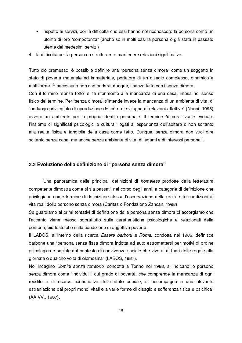 Anteprima della tesi: Persone senza dimora: cultura, consumi e relazioni con i mercati, Pagina 7