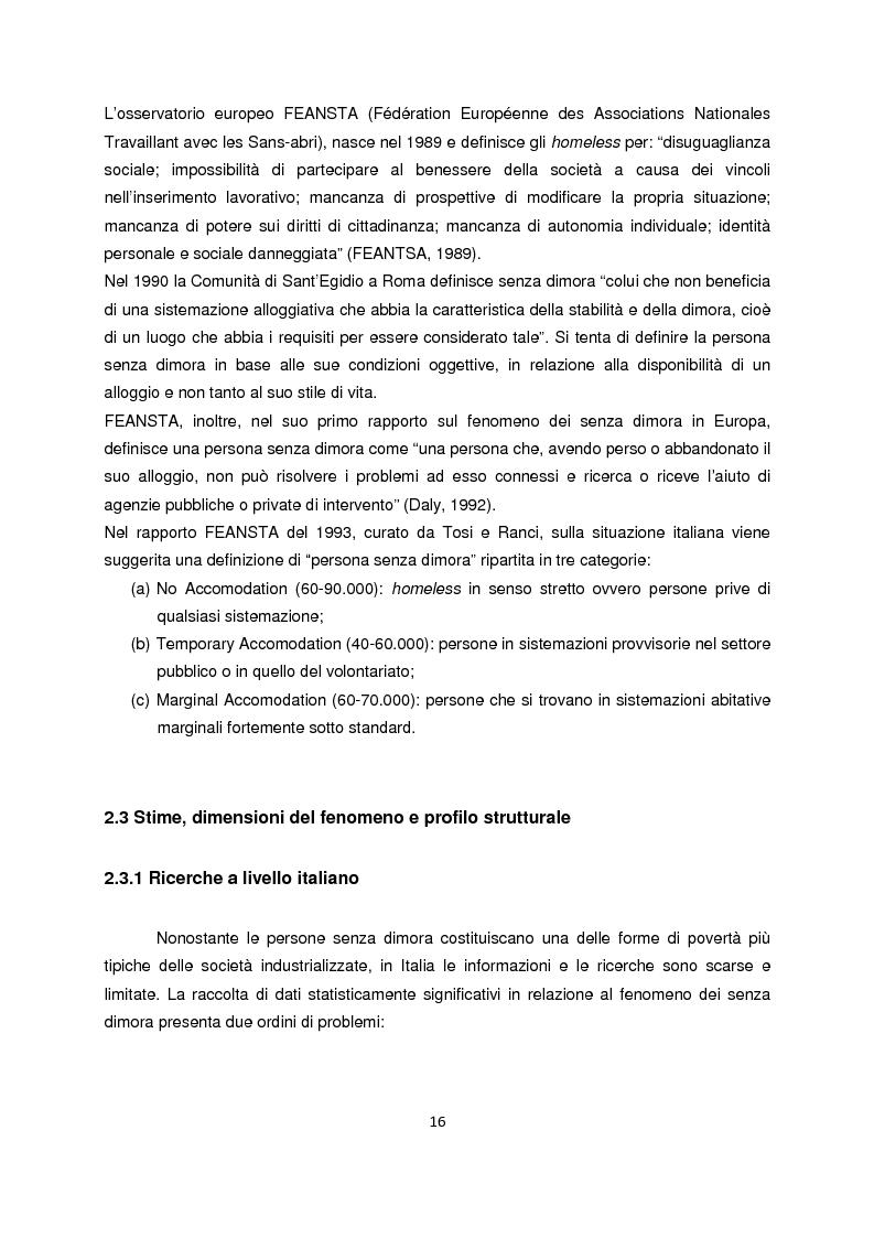 Anteprima della tesi: Persone senza dimora: cultura, consumi e relazioni con i mercati, Pagina 8
