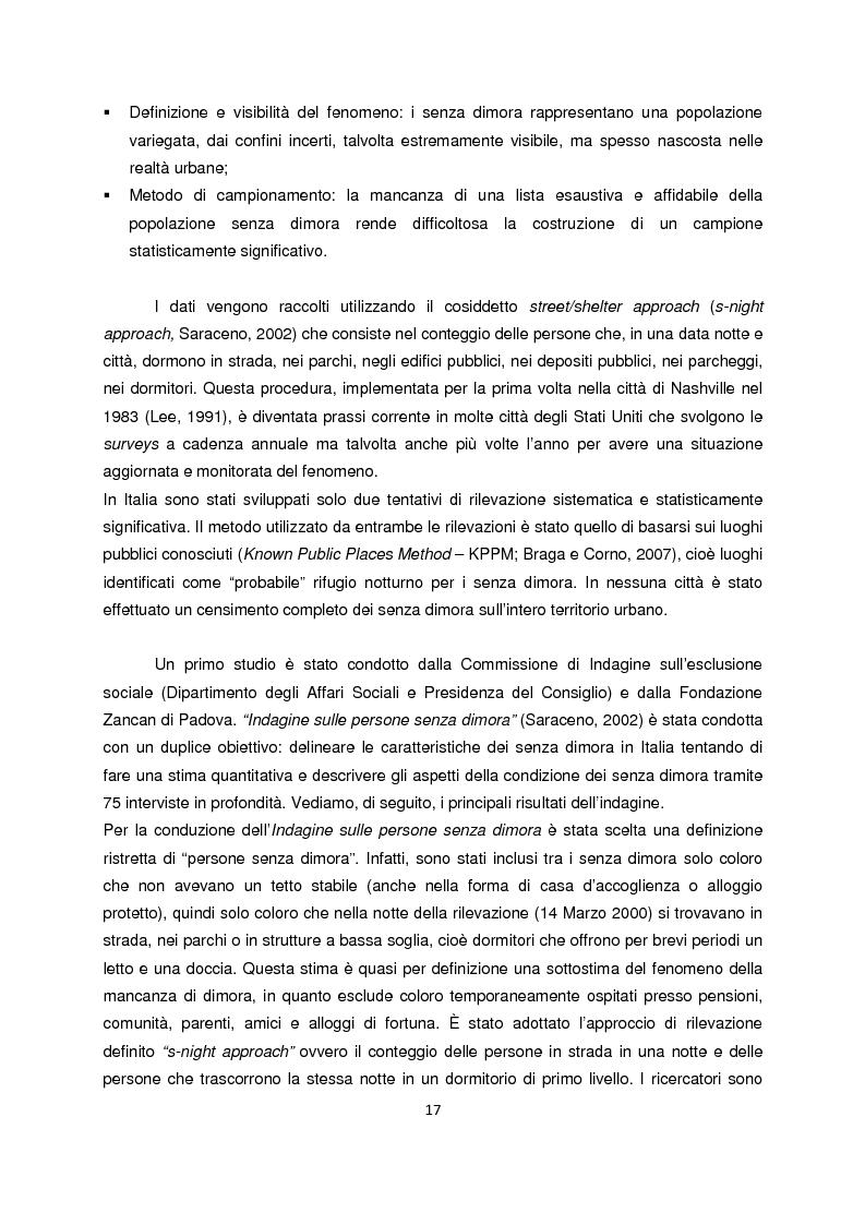 Anteprima della tesi: Persone senza dimora: cultura, consumi e relazioni con i mercati, Pagina 9