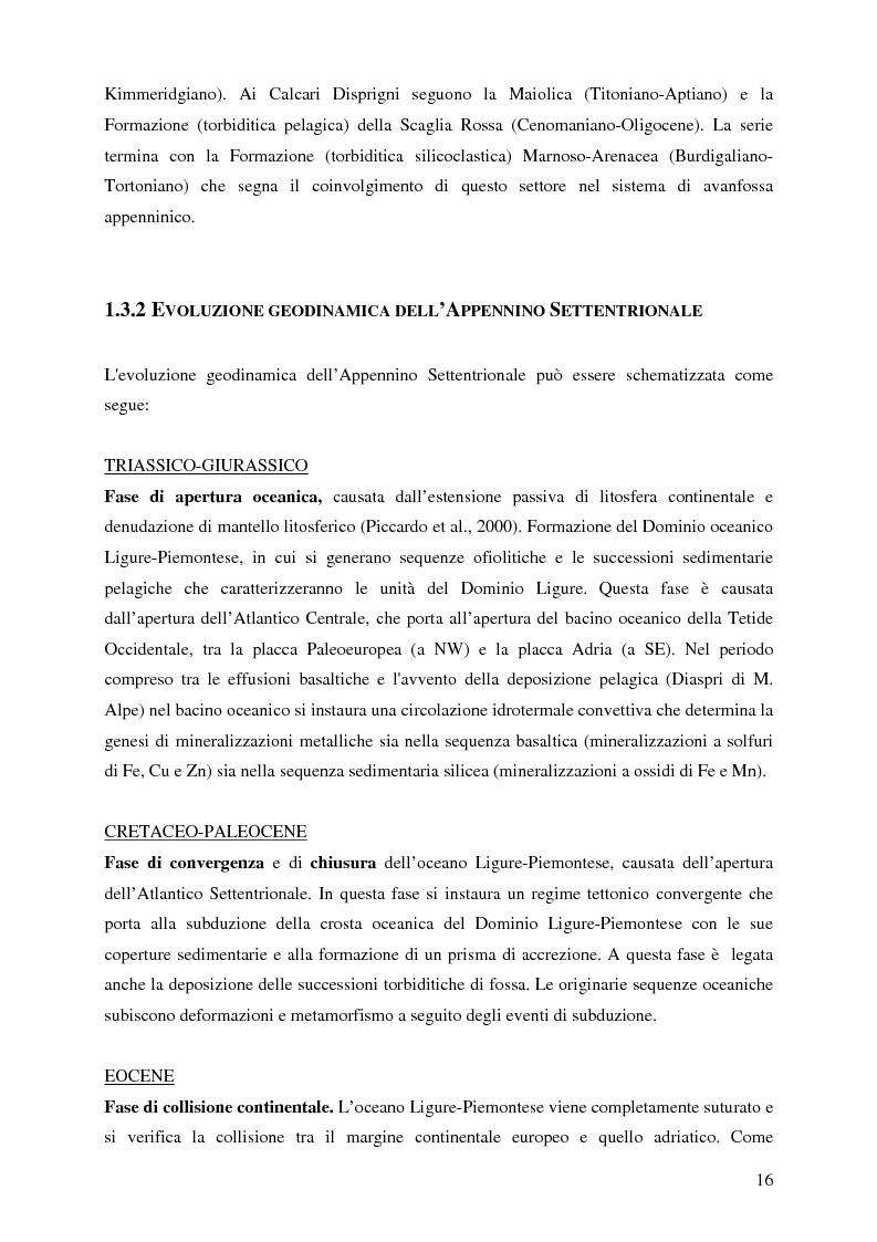 Anteprima della tesi: Indagini mineralogiche per la caratterizzazione della discarica mineraria della miniera di solfuri di ferro e rame di Libiola (Sestri Levante, Genova), Pagina 12