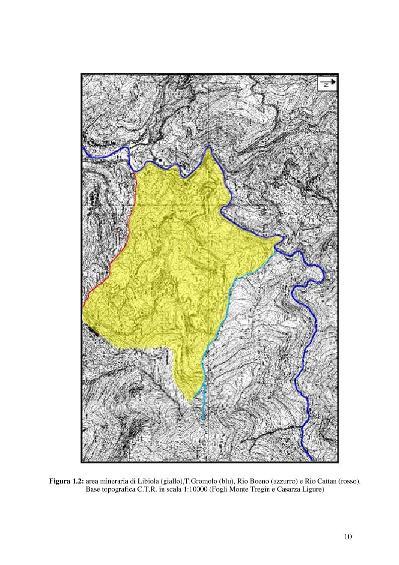Anteprima della tesi: Indagini mineralogiche per la caratterizzazione della discarica mineraria della miniera di solfuri di ferro e rame di Libiola (Sestri Levante, Genova), Pagina 6