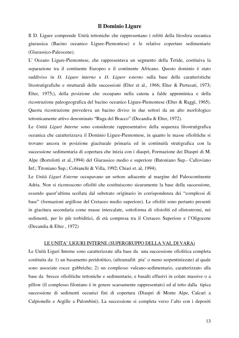 Anteprima della tesi: Indagini mineralogiche per la caratterizzazione della discarica mineraria della miniera di solfuri di ferro e rame di Libiola (Sestri Levante, Genova), Pagina 9