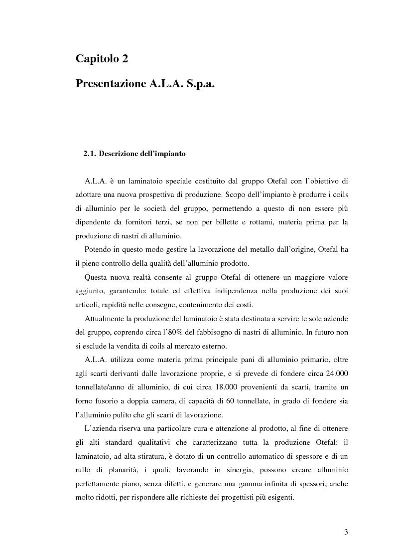 Anteprima della tesi: Sistema di degasaggio e filtrazione in linea per un impianto di colata continua di alluminio, Pagina 3