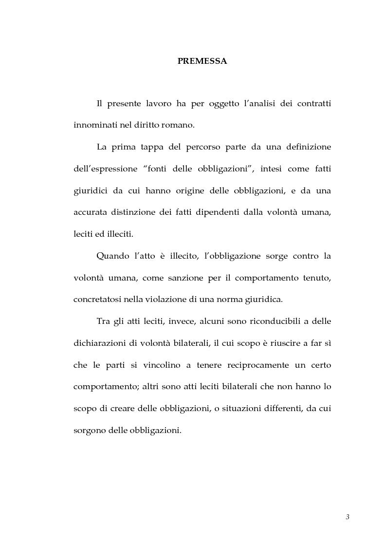 Anteprima della tesi: I contratti atipici nella recente dottrina romanistica, Pagina 1