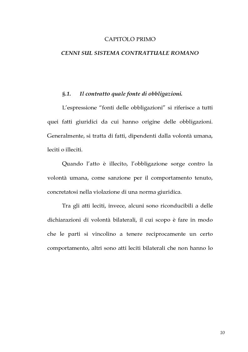 Anteprima della tesi: I contratti atipici nella recente dottrina romanistica, Pagina 8