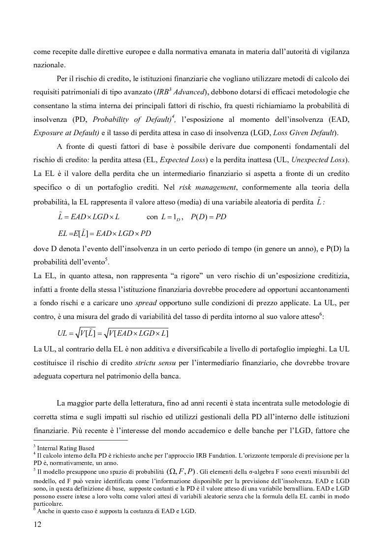 Anteprima della tesi: Prevedere la Loss Given Default nelle banche: fattori rilevanti e downturn LGD. Il caso di Banca Popolare di Sondrio., Pagina 2