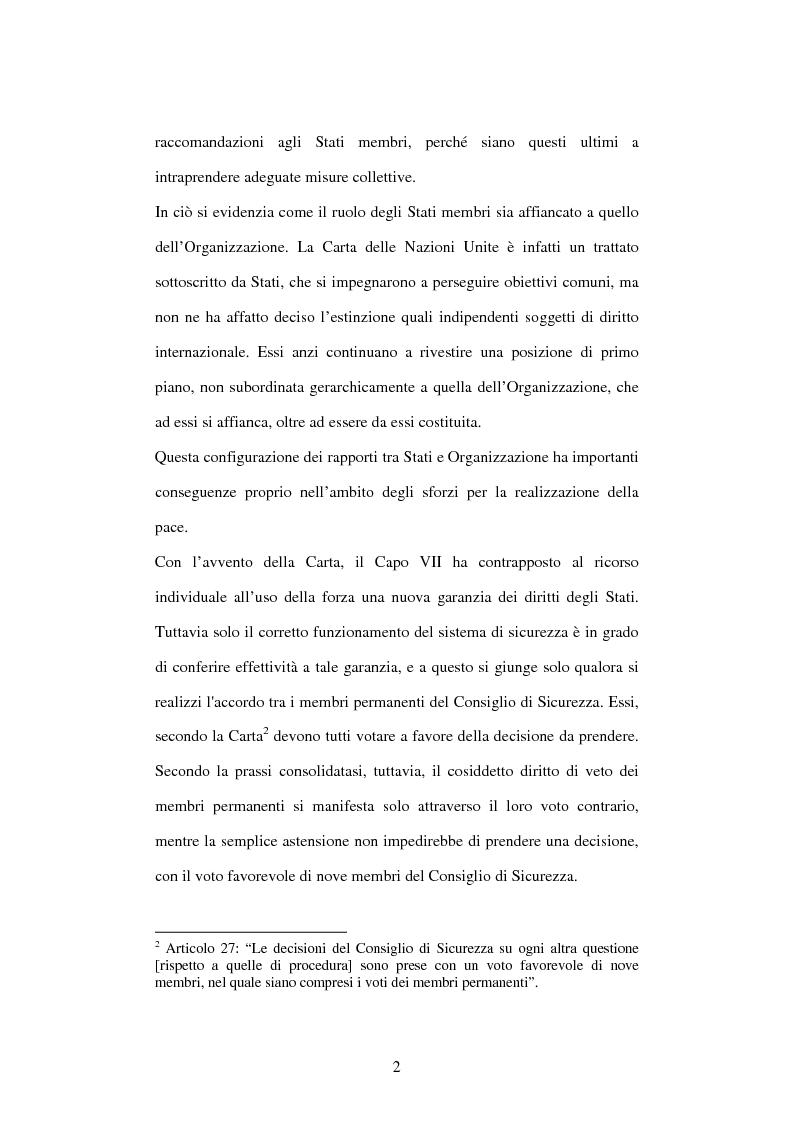 Anteprima della tesi: Il peace-building alla luce della Carta delle Nazioni Unite, Pagina 2