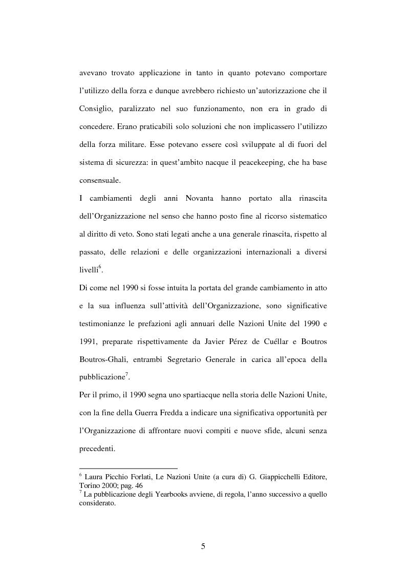 Anteprima della tesi: Il peace-building alla luce della Carta delle Nazioni Unite, Pagina 5