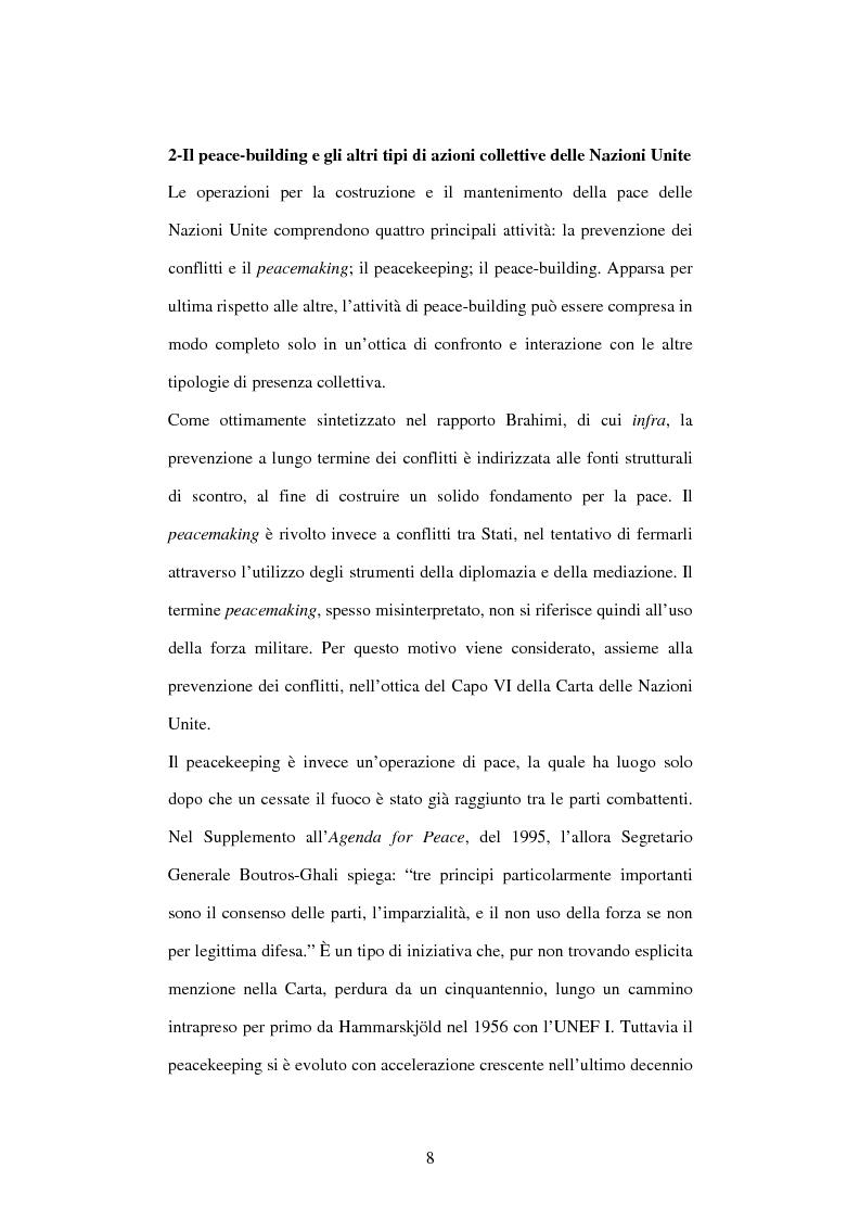 Anteprima della tesi: Il peace-building alla luce della Carta delle Nazioni Unite, Pagina 8
