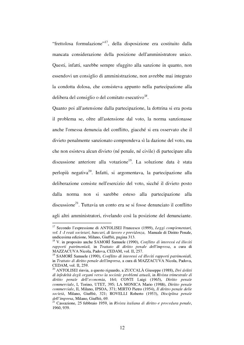 Anteprima della tesi: Omessa comunicazione del conflitto di interessi, Pagina 12
