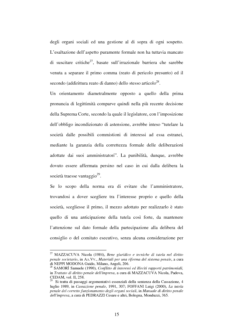 Anteprima della tesi: Omessa comunicazione del conflitto di interessi, Pagina 15