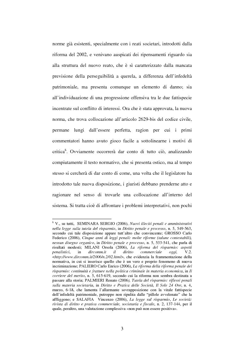 Anteprima della tesi: Omessa comunicazione del conflitto di interessi, Pagina 3
