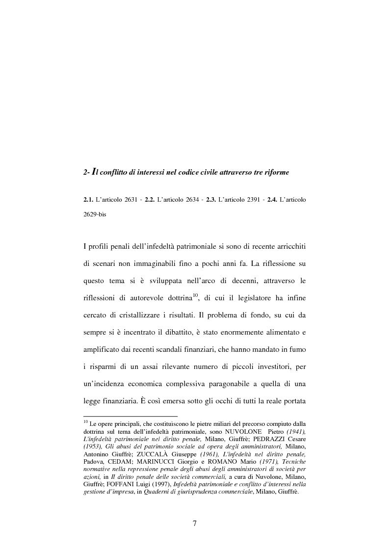 Anteprima della tesi: Omessa comunicazione del conflitto di interessi, Pagina 7