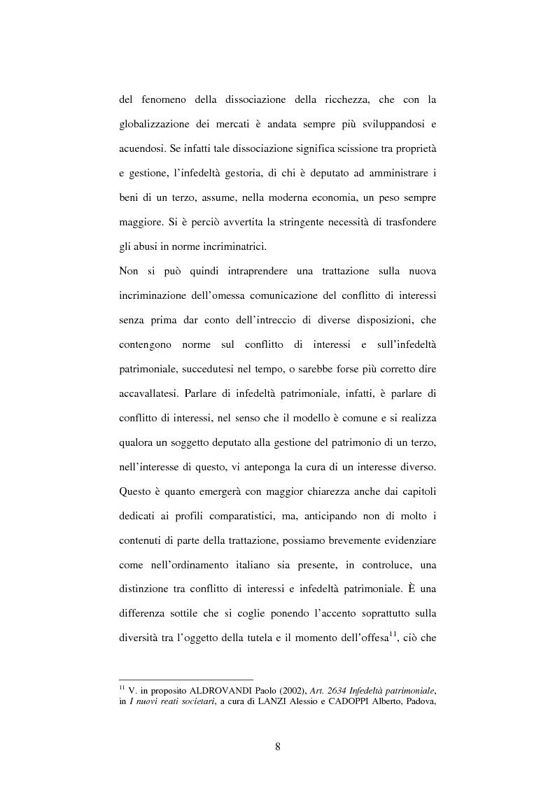 Anteprima della tesi: Omessa comunicazione del conflitto di interessi, Pagina 8