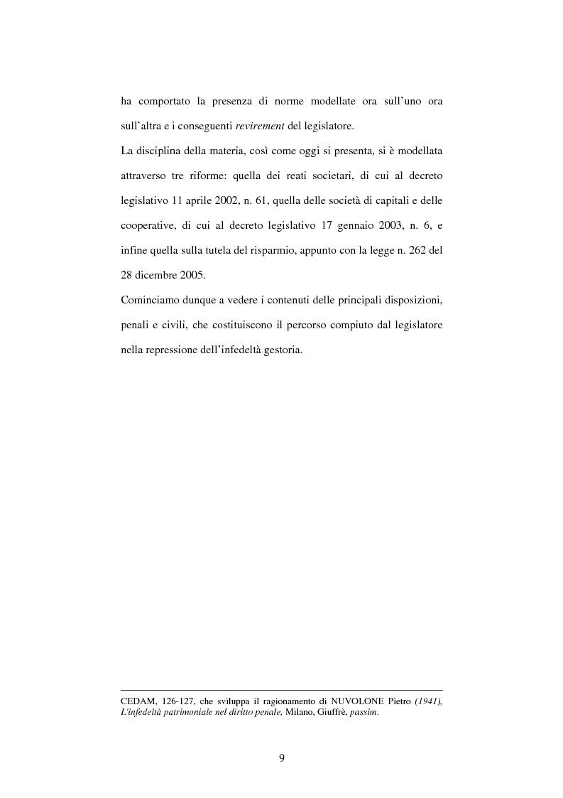 Anteprima della tesi: Omessa comunicazione del conflitto di interessi, Pagina 9