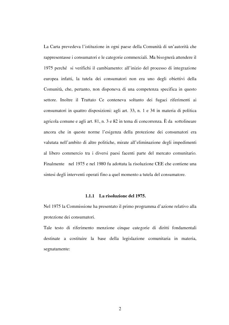 Anteprima della tesi: La tutela dei consumatori nell'UE: la strategia 2007-2013, Pagina 2