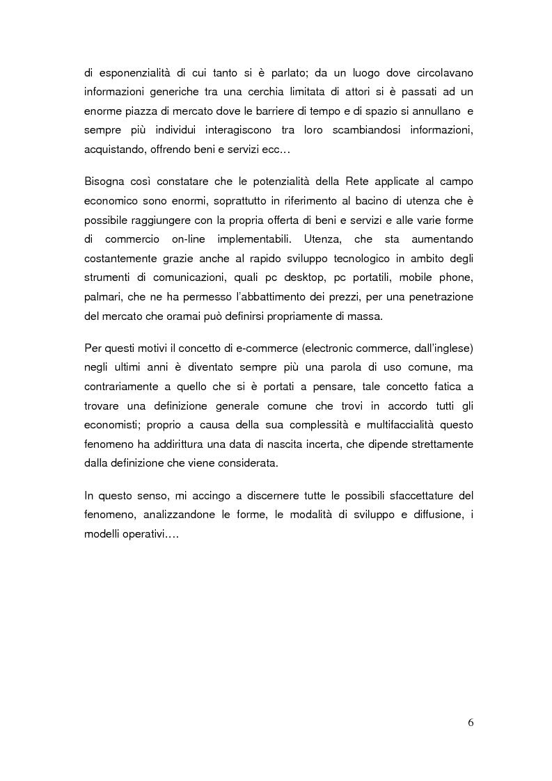 Anteprima della tesi: Il commercio elettronico: definizioni ed analisi ed implicazioni economiche del fenomeno, Pagina 3