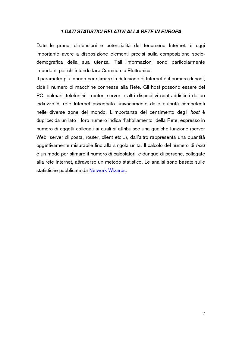 Anteprima della tesi: Il commercio elettronico: definizioni ed analisi ed implicazioni economiche del fenomeno, Pagina 4