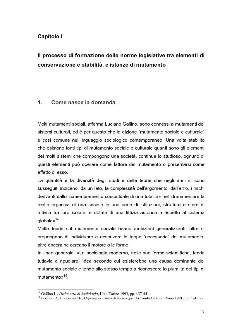 Anteprima della tesi: Il processo di formazione delle norme legislative tra stabilità e mutamento: il caso della riforma penitenziaria, Pagina 13