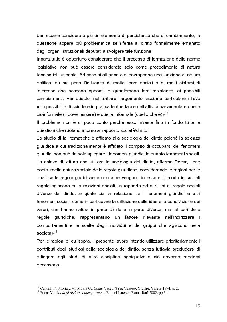 Anteprima della tesi: Il processo di formazione delle norme legislative tra stabilità e mutamento: il caso della riforma penitenziaria, Pagina 15